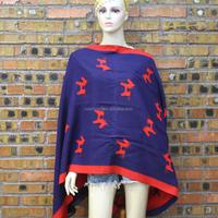 custom-made printed shawls heated blanket shawl hot selling