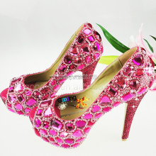 Fashion Heels Wholesale Shoes ivory wedding shoes uk Handmade Crystal Shoes