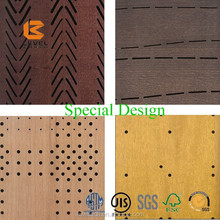 Acoustic Covering Perforated Interior Wall Decorative Wooden Soundproof Panel Board