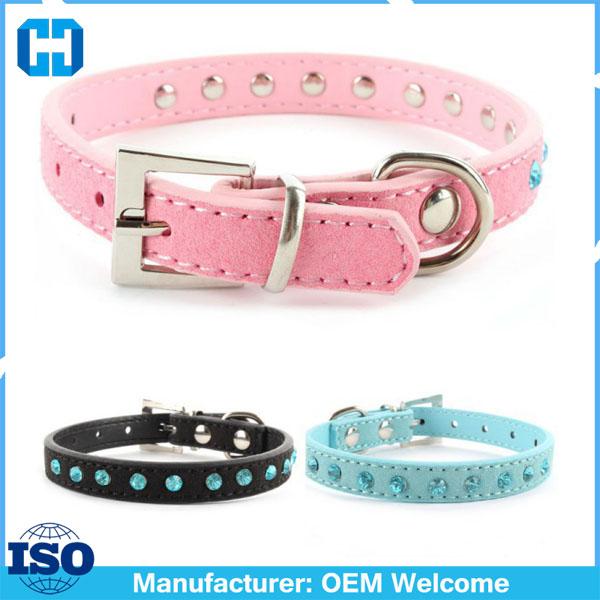 Factory-Price-Small-Pet-Dog-Velvet-PU-Leather-Collar-Puppy-Cat-Crystal-Rhinestone-Neck-Strap (2)