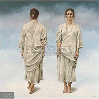 Handmade fantasy sick woman painting oils on canvas,Ans Markus