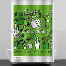 various kinds of cantoon flowers polyester shower curtain set