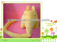 soft stuffed plush yellow elephant ruler