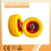 Small orange pu wheels 6X2 for hand truck and wheelbarrow