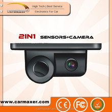 2in1 rear view car alarm with security camera with parking sensor / reversing camera with parking sensor