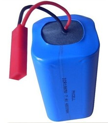 PKCELL Li-ion battery pack 2s2p 7.4v 4800mah with wires and connector
