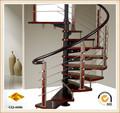 preço da escada de madeira em espiral de aço inoxidável
