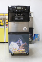 China Soft Ice Cream Maker for sale with ice cream cone holder