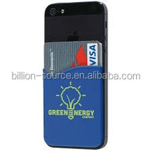 Silicone Adhesive Custom Wallets for Cell Phones with logo