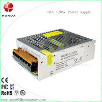 110V to 12V DC 10A 120W Universal Regulated Switching Power Supply for CCTV LED Strip