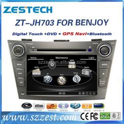 ZESTECH Factory OEM 2015 DVD support V-10disc CDC memory car gps navigation for JAC J7 Benjoy