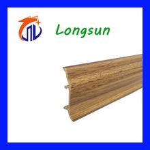 Wood grain covered skrting board baseboard for home decor