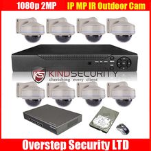 2014 Newest 8CH NVR 2MP HD 1080P Onvif IR Network IP Camera POE Switcher Security System 3TB