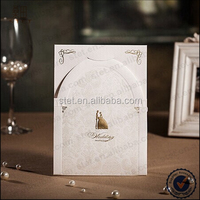 Wholesale 2015 new style 3d arches bride and groom laser cutting wedding invitation cards