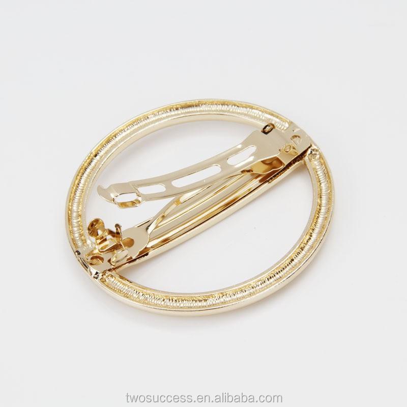 geometric circle headdress circular shape hair clip metal hair jewelry.jpg