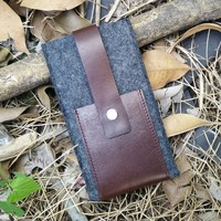 Eco friendly leather phone case with pocket,italian leather case for iPhone 6,6 plus,Leather iPhone Case Sleeve with card slot