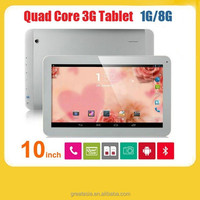 Factory Wholesale 3g tablet pc 10 inch MTK8382 quad core built in GPS bluetooth android 4.4.2 sim card slot phone call tablet