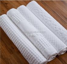 China wholesale 100% cotton white hotel towel bath mat