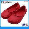 simple y brillante de color rojo las niñas eva sandalias de jardín