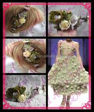 Aidocrystal bridal hair piece,wedding hair flower fascinators, fashion women hair accessories