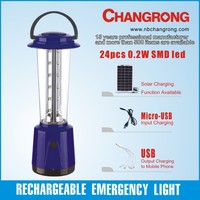rechargeable outdoor emergency led lantern with solar panel