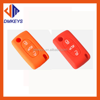 Colorful fashion hotsale silicone rubber car key cover for different cars
