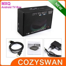 android smart mxq tv box with free news tv box