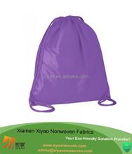 "drawstring tote bags plain gym sack purple 17*20""China made"
