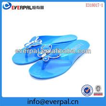 Blue Lady Jelly PVC Flip FLops
