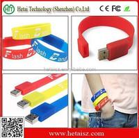 Promotion Popular Silicon USB Flash Drive / Bracelet USB Memory Disk