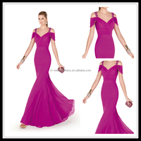 Sexy V-neck Chiffon Pleat Lady bohemian style mother of the bride dress FXL-275