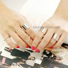 New 6Pcs/ Set Cheap Adjustable Punk Knuckle Ring Finger Ring