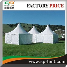 2012 White garden pagoda 6x6m pinnacle tent with pvc window