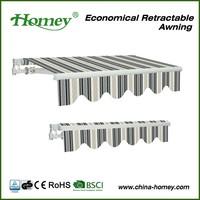 garden furniture Zhejiang Homey metal roof awning