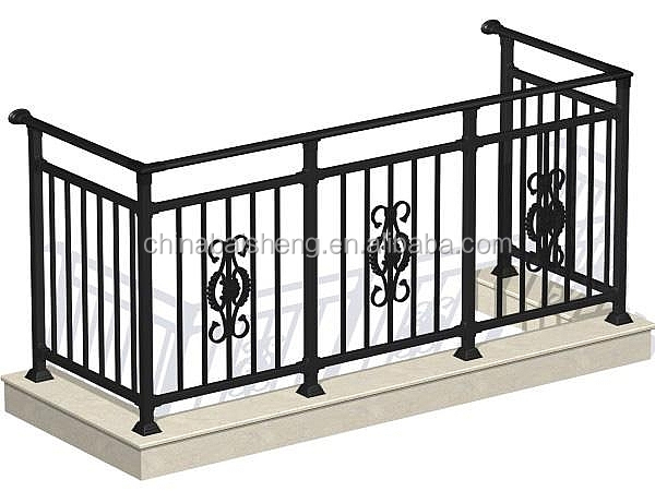 Balcony rail designs railing c5 buy iron balcony for Terrace railing design
