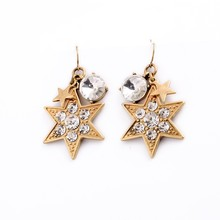 Tiny Spot Crystals Charms Earrings E1686
