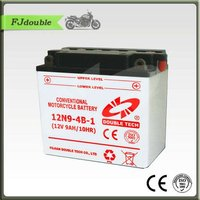 Standard Dry Charged Motorcycle Battery 12N9B-4B-1(12V 9AH) With High Quality