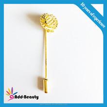 Top selling custom stick pin, badge clip safety pin, long needle lapel pin