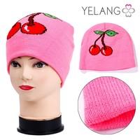 2015 custom fashion kids different pattern warm knit hat
