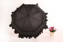 Poliéster rectas negro grande paraguas grande, paraguas de la boda paraguas