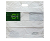 Die cut handle plastic bag/ HDPE or LDPE material bag