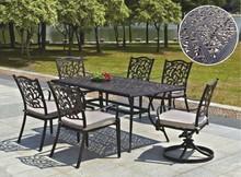 Janet Durable Easy Installation Cast Aluminum Dining Set Outdoor Garden Furniture
