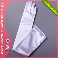Factory Wholesale High Quanlity Long Satin Opera Gloves Cosplay Dancing Gloves Evening Party Sexy Bridal Gloves 9201W