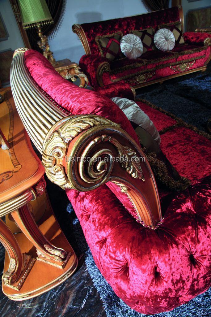 Luxe roze victoriaanse stijl woonkamer stoffen zitbank/europese ...