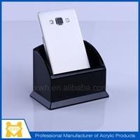 new stylish clear acrylic logo printing acrylic mobile phone holder