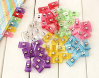 500pcs PVC Plastic Clips For Patchwork Sewing DIY Crafts, Quilt Quilting Clip 3.5*1.8CM DHL Freeshipping