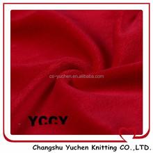 2015 red woven polyester velour fleece for sport garment