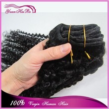 """Best 6A quality 10-30"""" #1b 100 real malaysian virgin human hair clip in curly hair extension"""