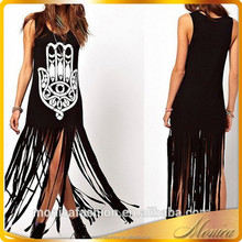 In The Summer Of 2015 Girls Fashion Cotton Dress Sleeveless Long To Ankle Piece Of Pakistan's New Style Clothes
