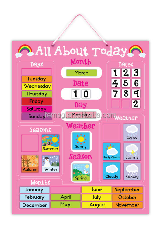 Kids Weather Calendar : E hot brand new for kids baby and child calendar